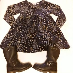 Vtg 1990s Baby Doll Dress with Waist Clip